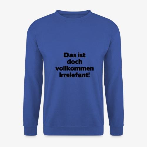 Irrelefant schwarz - Männer Pullover