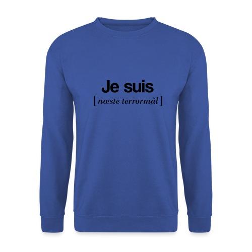 Je suis (sort skrift) - Herre sweater
