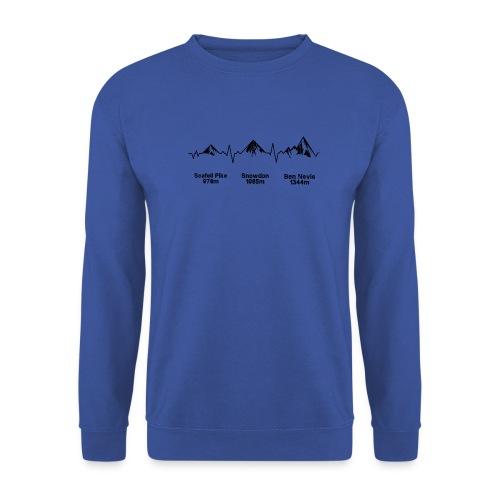 ECG Thee Peaks Light Background - Men's Sweatshirt