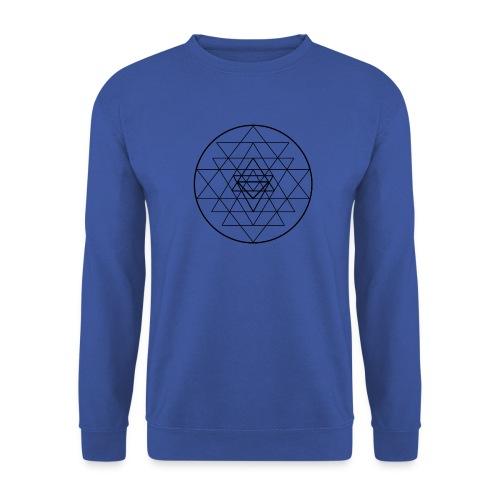 Sri Yantra - black and white - Herre sweater