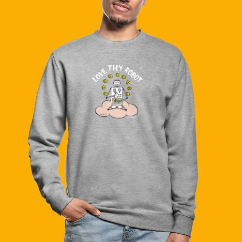 Dat Robot: Love Thy Robot Buddha Dark - Unisex sweater