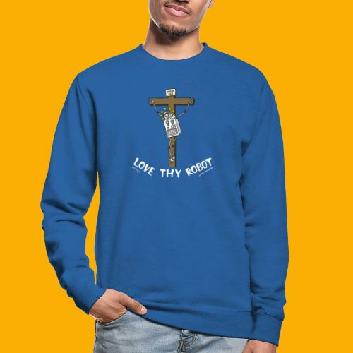 Dat Robot: Love Thy Robot Jesus Dark - Unisex sweater