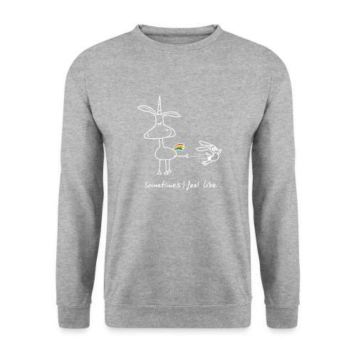 Dru - sometimes I feel like... (weisse Outline) - Männer Pullover