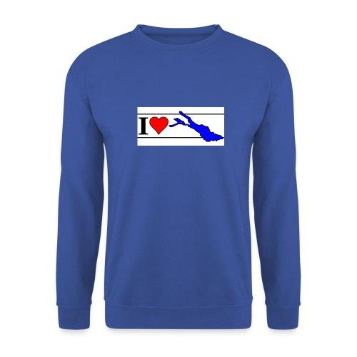 love 225x100 120dpi blau - Unisex Pullover