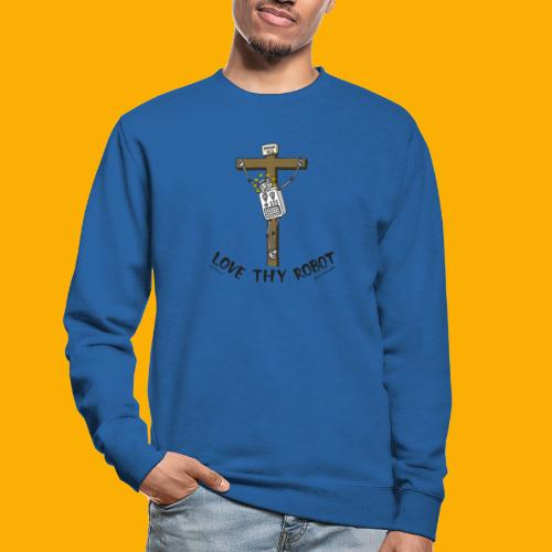 Dat Robot: Love Thy Robot Jesus Light - Unisex sweater