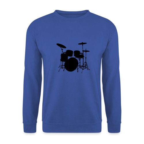Drums in black - Sudadera unisex