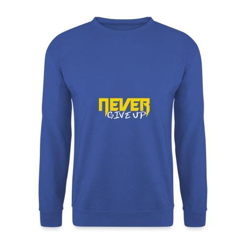 Never give up - Männer Pullover