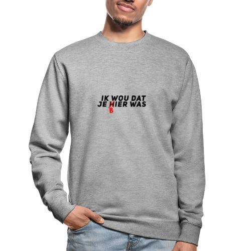 Ik wou dat je bier was - Unisex sweater