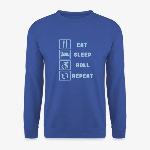 >Eten, slapen, rollen met rolstoel en herhalen 001 - Unisex sweater