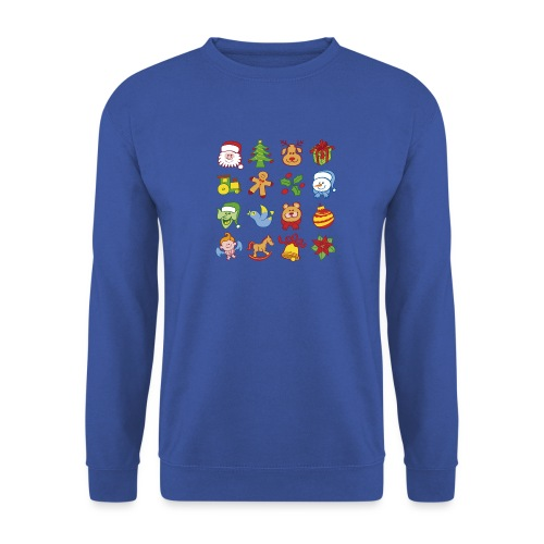 Traditional Christmas characters and symbols - Men's Sweatshirt