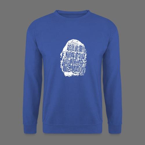 Fingerprint DNA (hvid) - Unisex sweater