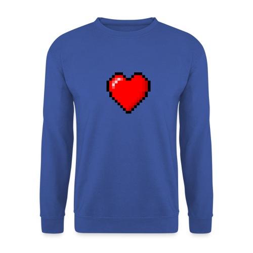 8bit heart - Felpa unisex