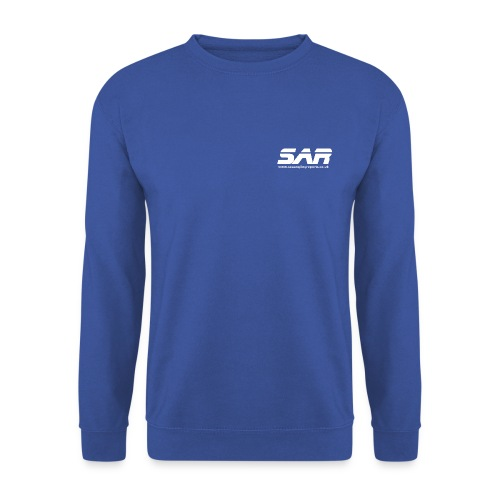 sar logo white ontransparent - Men's Sweatshirt