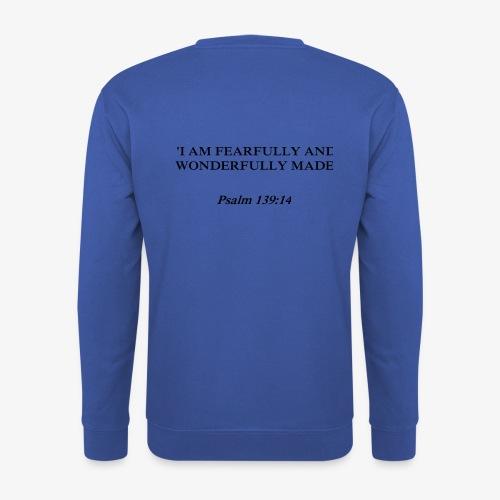 Psalm 139:14 black lettered - Unisex sweater