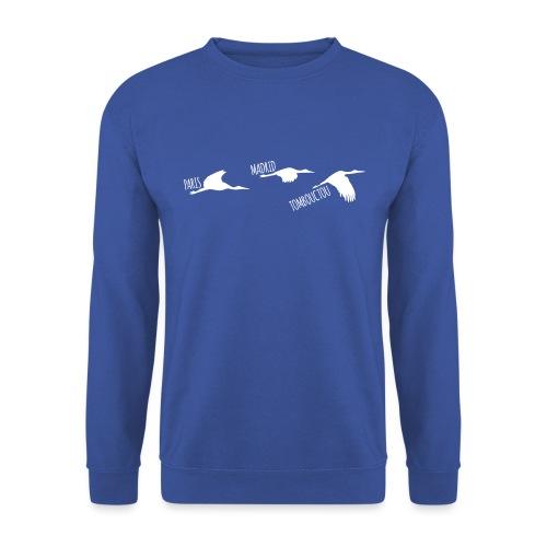 3 horizons oiseaux white - Sweat-shirt Unisexe
