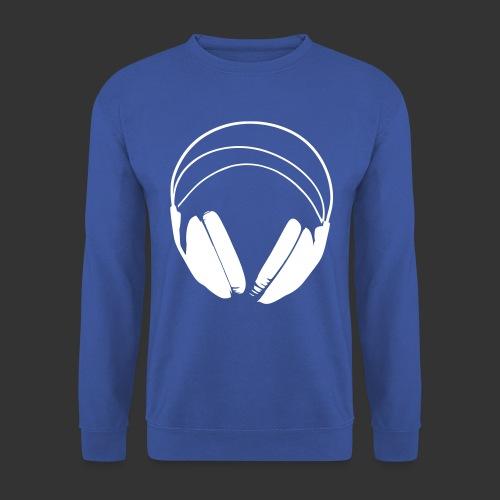 Casque blanc, logo de podradio vectorisé - Sweat-shirt Unisexe