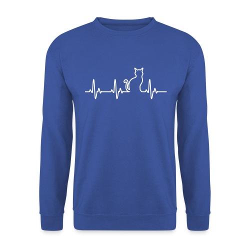 Vorschau: Ein Herz für Katzen - Unisex Pullover