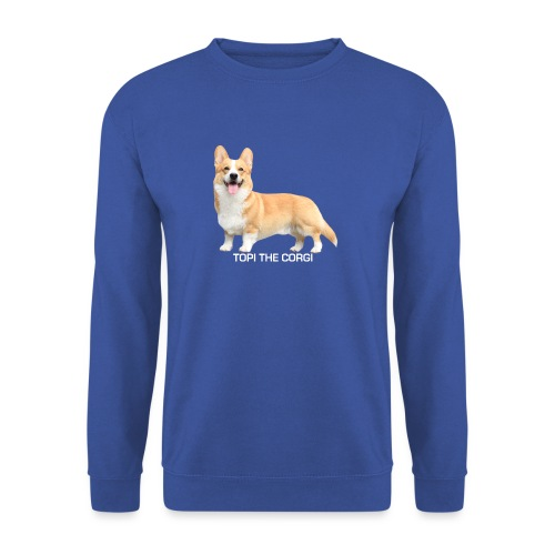 Topi the Corgi - White text - Unisex Sweatshirt