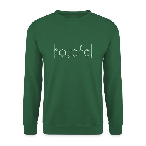 Polyetheretherketone (PEEK) molecule. - Unisex Sweatshirt