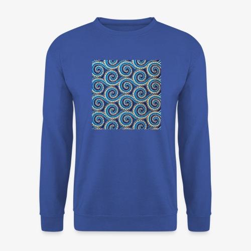 Spirales au motif bleu - Sweat-shirt Unisexe