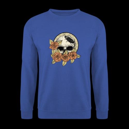 Rose et tête de mort - Sweat-shirt Unisexe