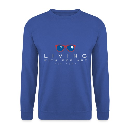 LIVING WITH POP ART BLANC - Sweat-shirt Unisexe