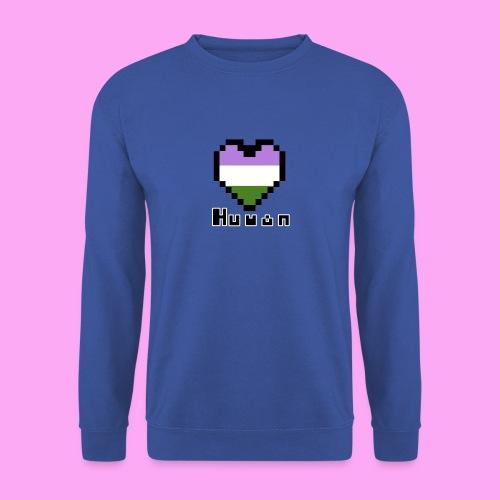 Pride heart genderqueer - Unisex svetaripaita