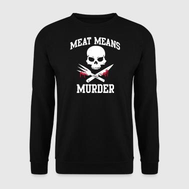Kött: mord - kött betyder mord - Herrtröja