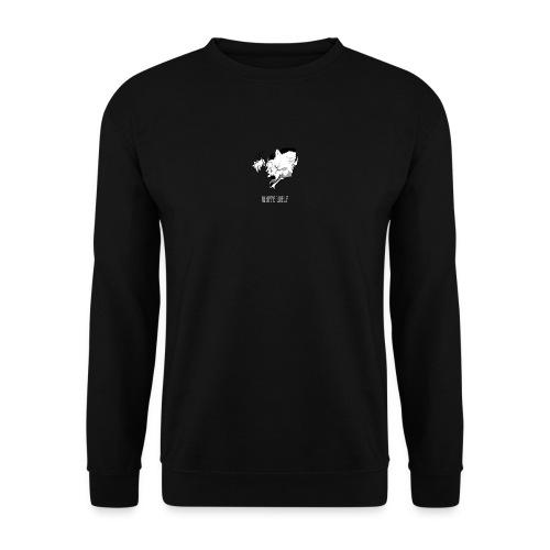 WhiteWolf logo with text (white) - Men's Sweatshirt