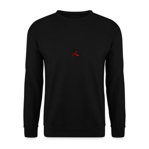 Kinesisk Bogstav Rød/Sort på Brystkassen - Herre sweater