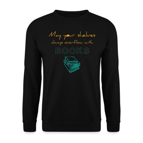 0037 Do the bookshelves always like books? - Men's Sweatshirt