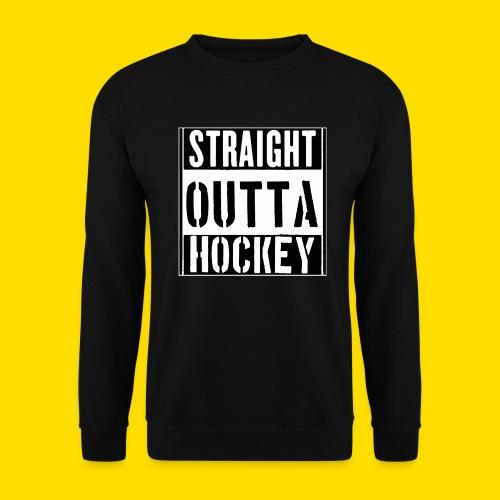 straight outta hockey // Eishockey Fun Shirt - Männer Pullover