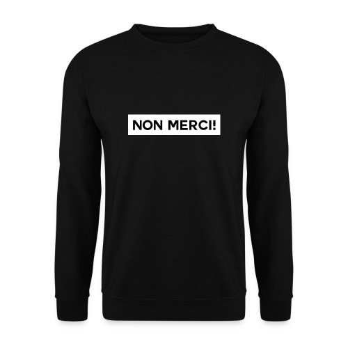 BASIC2 APPAREL BLACK EDITION - UNISEX / NON MERCI! - Sweat-shirt Homme