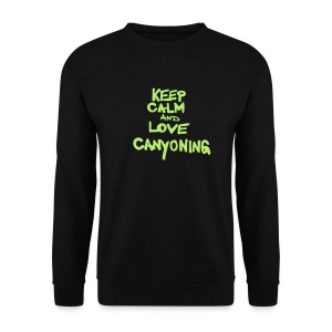 keep calm and love canyoning - Männer Pullover