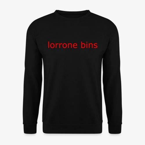 lorrone bins simple - Men's Sweatshirt