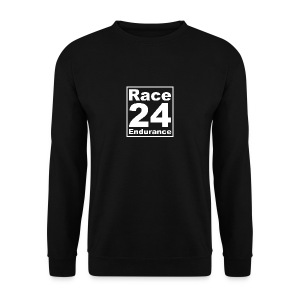 Race24 Logo - White - Men's Sweatshirt