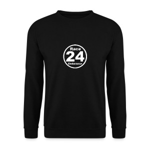 Race24 round logo white - Men's Sweatshirt