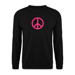 Gay pride peace symbool in roze kleur - Mannen sweater