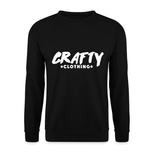WHITE CRAFTY LOGO - Unisex Sweatshirt