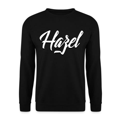 Logo Hazel Blanc Noir png - Sweat-shirt Homme