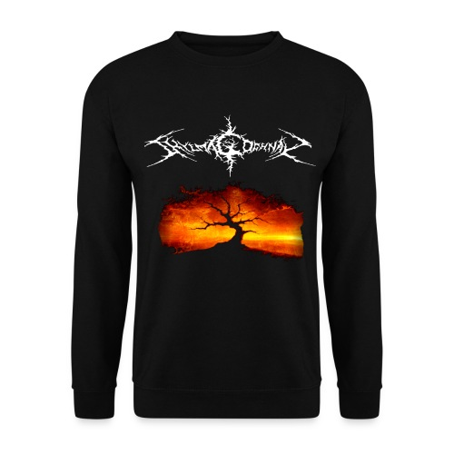 Silhouette of tree with logo white png - Men's Sweatshirt