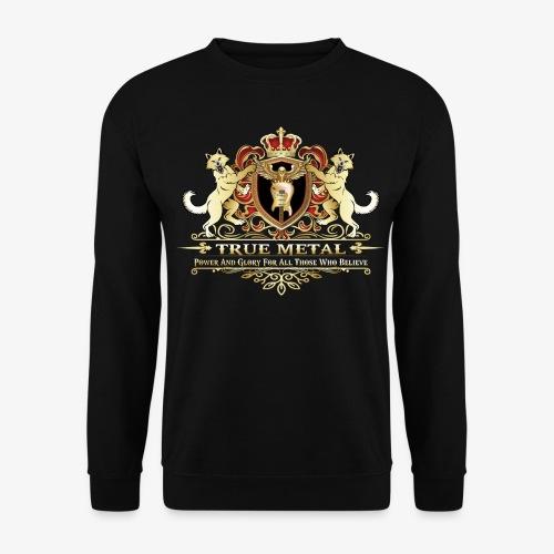 True Metal Coat of Arms - Men's Sweatshirt
