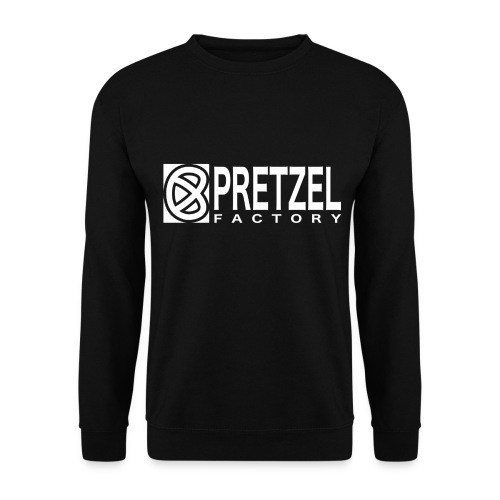 Pretzel Factory Logo Blanc - Sweat-shirt Homme