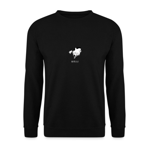 WhiteWolf logo with text (white) - Unisex Sweatshirt