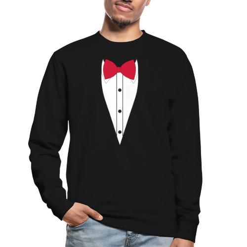Anzug mit Fliege - Unisex Pullover