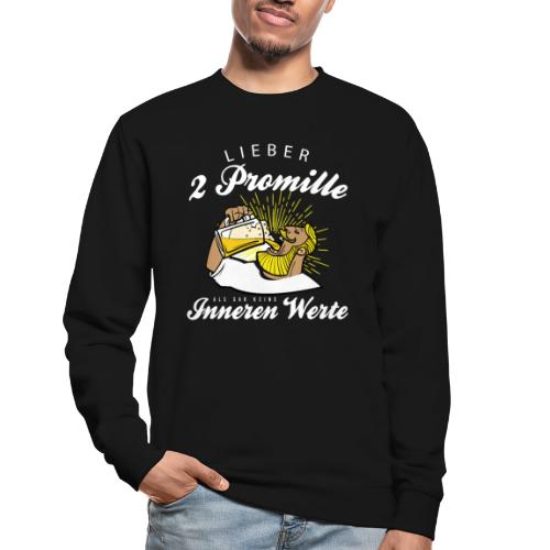 Lustiger Spruch - Lieber 2 Promille - Unisex Pullover