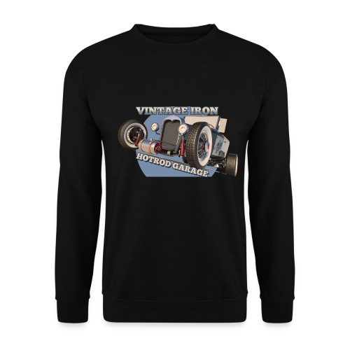 hot rod garage | vintage iron - Unisex Pullover