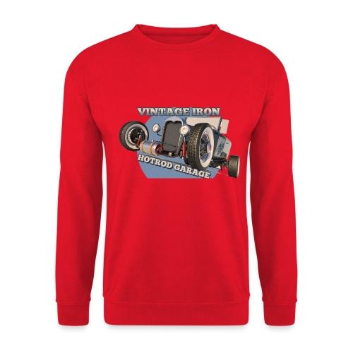 hot rod garage   vintage iron - Unisex Pullover