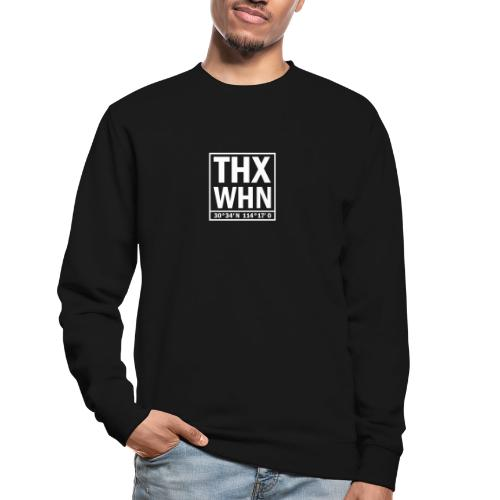 THX WHN Koordinaten - Thanks Wuhan (weiss) - Unisex Pullover