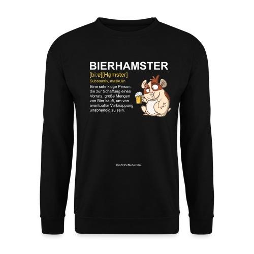 Bierhamster Bier Hamsterkauf Duden Definition Fun - Unisex Pullover